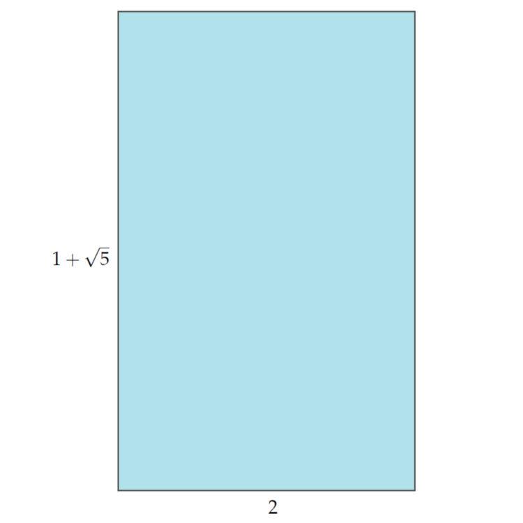 rechteck mit harmonischem Seitenverh HF